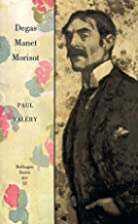 Degas Manet Morisot (Vol 12) by Paul Valéry
