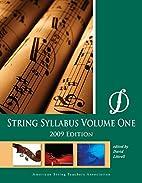 String Syllabus, Vol 1 by David Littrell
