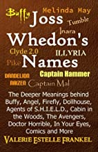 Joss Whedon's Names: The Deeper…