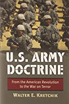 U.S. Army doctrine : from the American…
