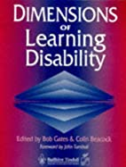 Dimensions of Learning Disability by Bob…