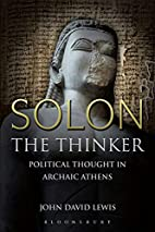 Solon the Thinker: Political Thought in…