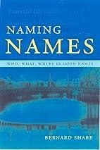 Naming Names: Who, What, Where in Irish…