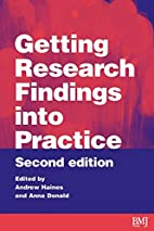 Getting Research Findings into Practice by…