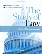 The Study Of Law: A Critical Thinking…