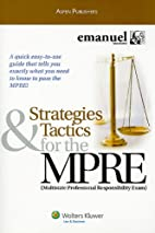 Strategies and Tactics for the MPRE, 2009…