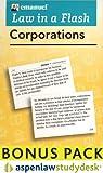 Steven Emanuel: Law in a Flash Corporations: AspenLaw Studydesk Bonus Pack (Flash Card and Access Card Bonus Pack)