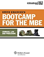 MBE Bootcamp: Criminal Law & Procedure by…