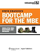 MBE Bootcamp: Simulated MBE: Questions &…