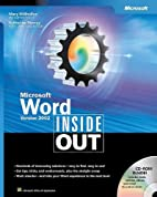Microsoft Word Version 2002 Inside Out by…