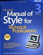 Microsoft Manual of Style for Technical…