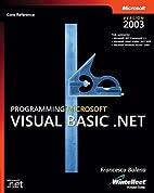 Programming Microsoft Visual Basic .NET…