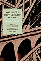 Outline of a Phenomenology of Right by…