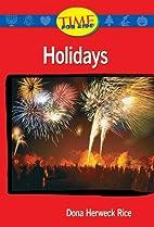 Holidays: Upper Emergent (Nonfiction…