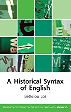 A Historical Syntax of English (Edinburgh…