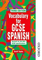 Vocabulary for GCSE Spanish by Geoff Taylor