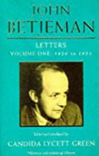 John Betjeman Letters: Volume One: 1926 to…
