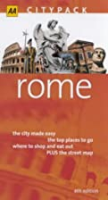 AA Citypack Rome by Tim Jepson