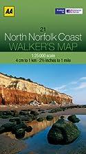Walker's Map North Norfolk Coast by AA…