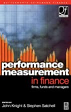 Performance Measurement in Finance…