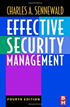 Effective Security Management by Charles…