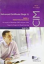CIM Advanced Certificate (Stage 2) Paper 6…