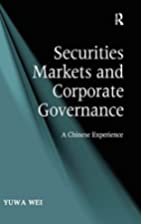 Securities markets and corporate governance…