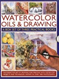 Sidaway, Ian: Watercolor Oils & Drawing Box Set: Mastering the art of drawing and painting with step-by-step projects and techniques shown in over 1400 photographs