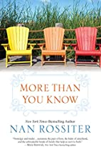 More Than You Know by Nan Rossiter