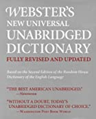 Webster's New Universal Unabridged…