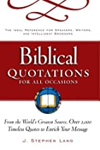 Biblical Quotations for All Occasions : From…