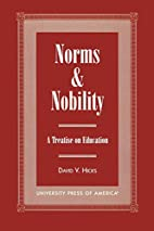 Norms and Nobility: A Treatise on Education…