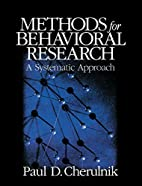 Methods for Behavioral Research: A…
