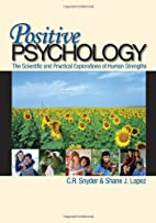 Positive Psychology: The Scientific and…