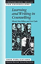 Learning and Writing in Counselling…