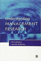 Understanding Management Research: An…