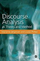 Diskursanalys som teori och metod by…