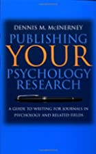 Publishing Your Psychology Research: A Guide…