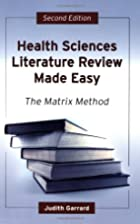 Health Sciences Literature Review Made Easy:…