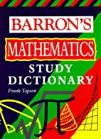 Barron's Math Study Dictionary by Frank…