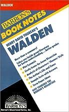 Walden (Barron's Book Notes) by Linda…