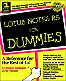 Stephen R. Londergan: Lotus Notes R5 For Dummies (For Dummies (Computer/Tech))