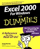 Excel 2000 for Windows for Dummies by Greg…