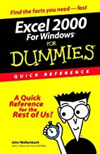 Excel 2000 for Windows for Dummies: Quick…