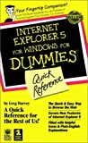 Harvey, Greg: Internet Explorer 5 For Windows For Dummies Quick Reference (For Dummies (Computer/Tech))
