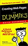 Lowe, Doug: Creating Web Pages for Dummies Quick Reference: A Quick Reference for the Rest of Us!