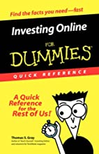Investing Online for Dummies Quick Reference…