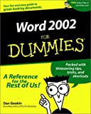 Gookin, Dan: Word 2002 For Dummies