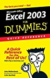 Walkenbach, John: Excel 2003For Dummies Quick Reference