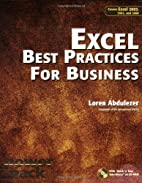 Excel Best Practices for Business: Covers…